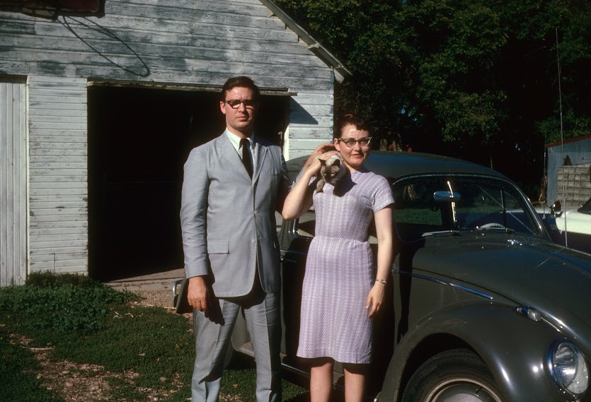 Mom and Dad in the early 1960's just before moving to New York City. Dad had his Don Draper going on.